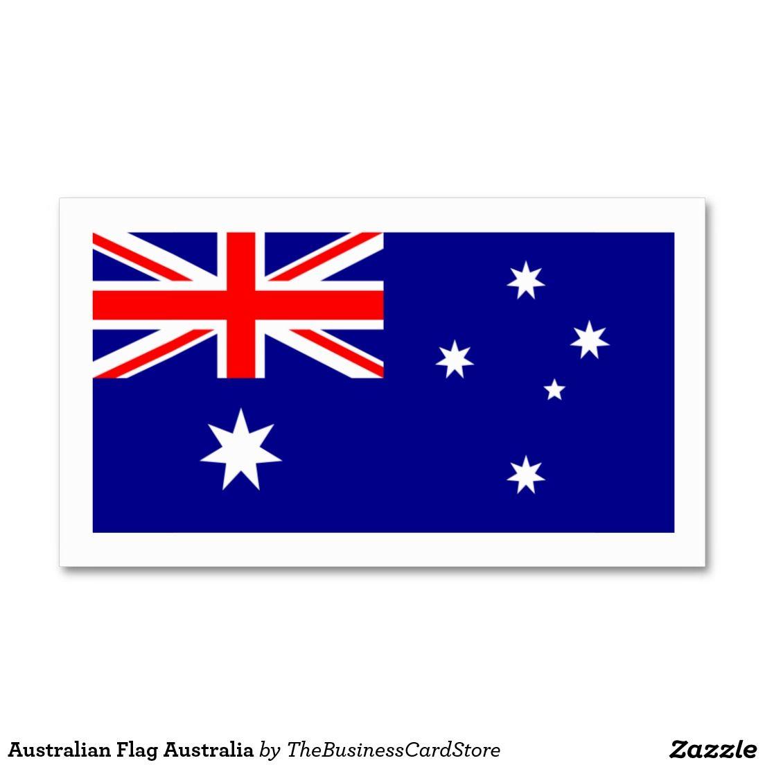 Australian Flag Australia Business Card | WORLD FLAGS BUSINESS CARDS ...