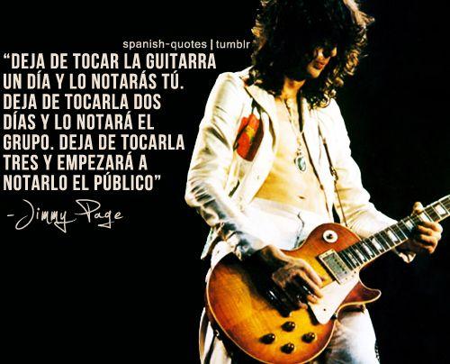 Spanish Quotes Jimmy Page Frases En Español Y Guitarras