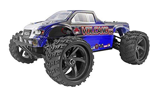Redcat Racing Volcano18 V2 Electric Monster Truck with Waterproof Electronics 118th Scale Blue * Find out more about the great product at the image link.