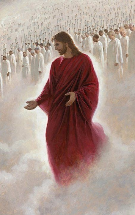 Behold, He is coming with the clouds, and every eye will see Him. (Rev.1:7) He is dressed in a robe dipped in… | Jesus pictures, The church of jesus christ, Christ