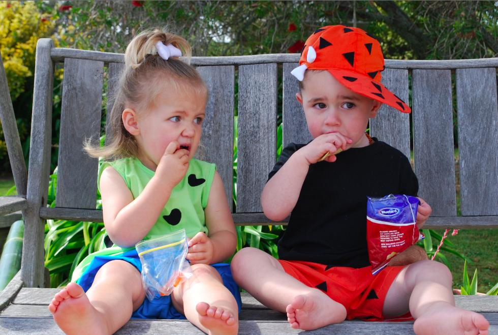 Pebbles and Bam Bam! @Katie Schmeltzer 'Johnson' Uselman a future halloween idea!! #pebblesandbambamcostumes