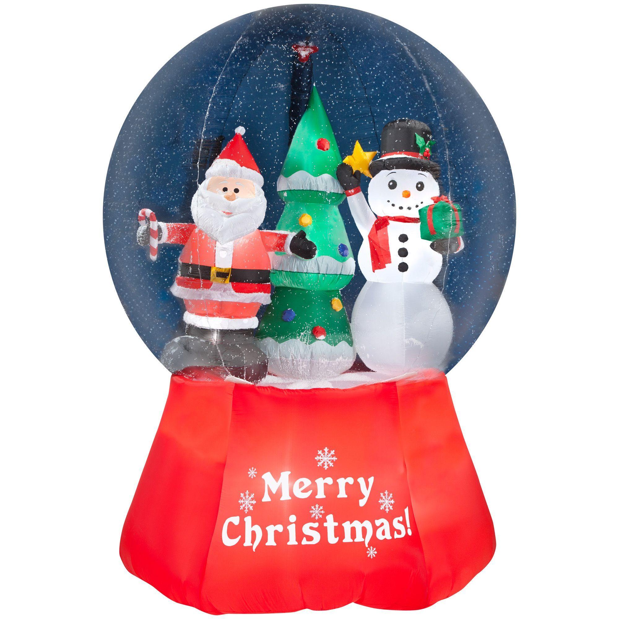 gemmy airblown inflatables santa with snowman multicolor plastic rh pinterest ca