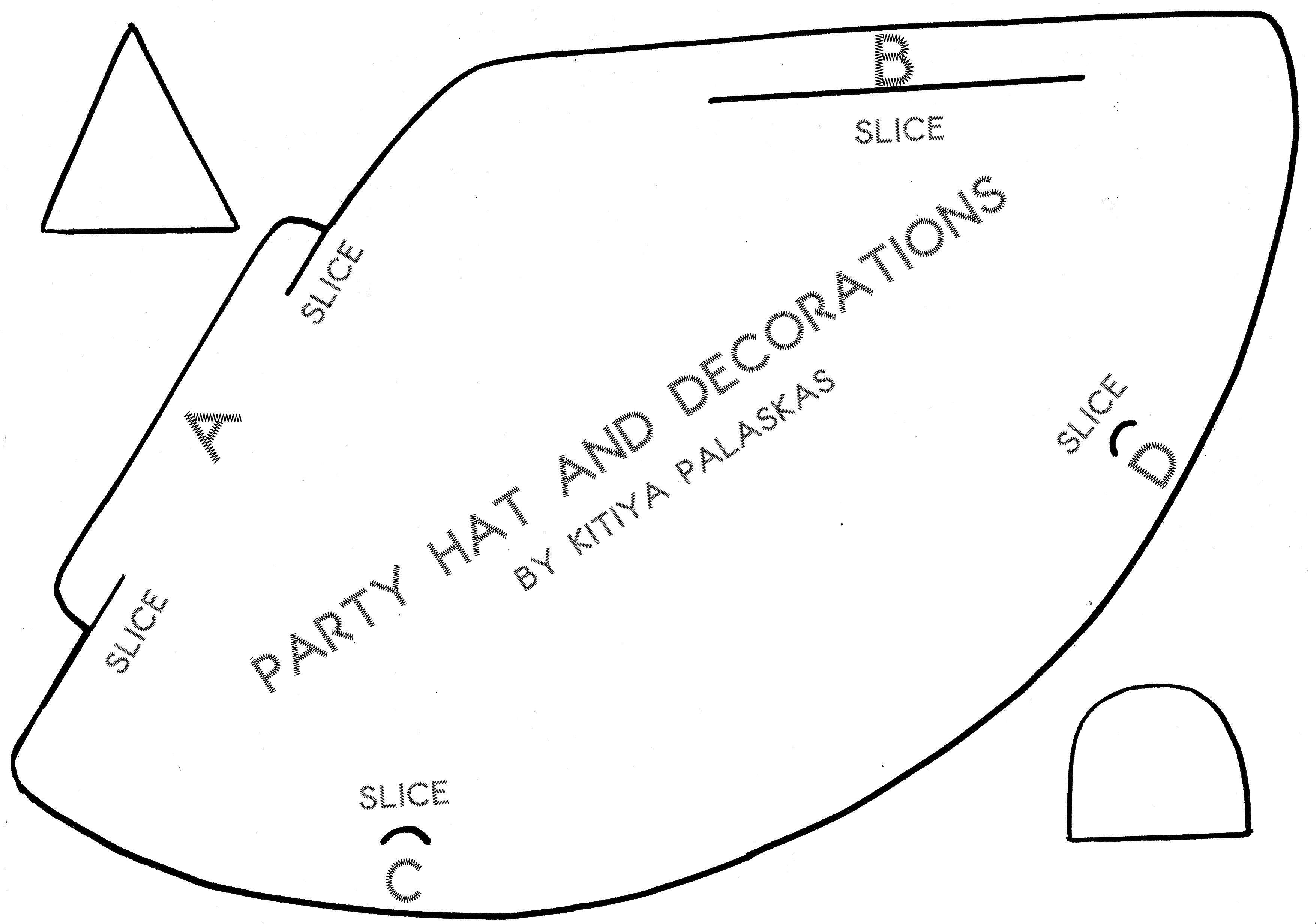 Party Hat Template  Party Ideas    Hat Template