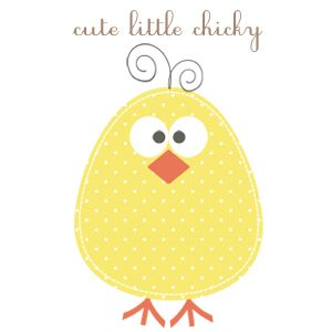 Free Clip Art, printables and fonts *little chicky *cupcake *house ...