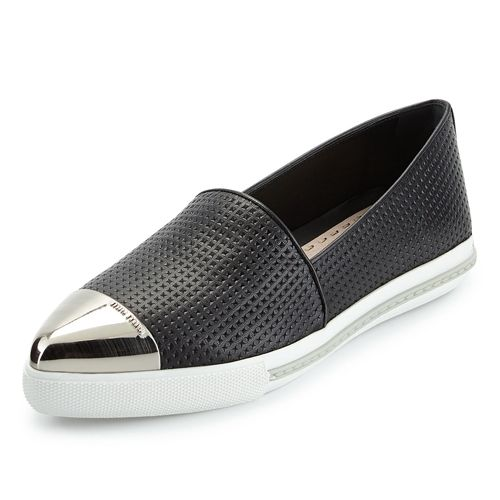sale Inexpensive sale ebay Miu Miu Pointed-Toe Leather Loafers MCQhWtnKg4