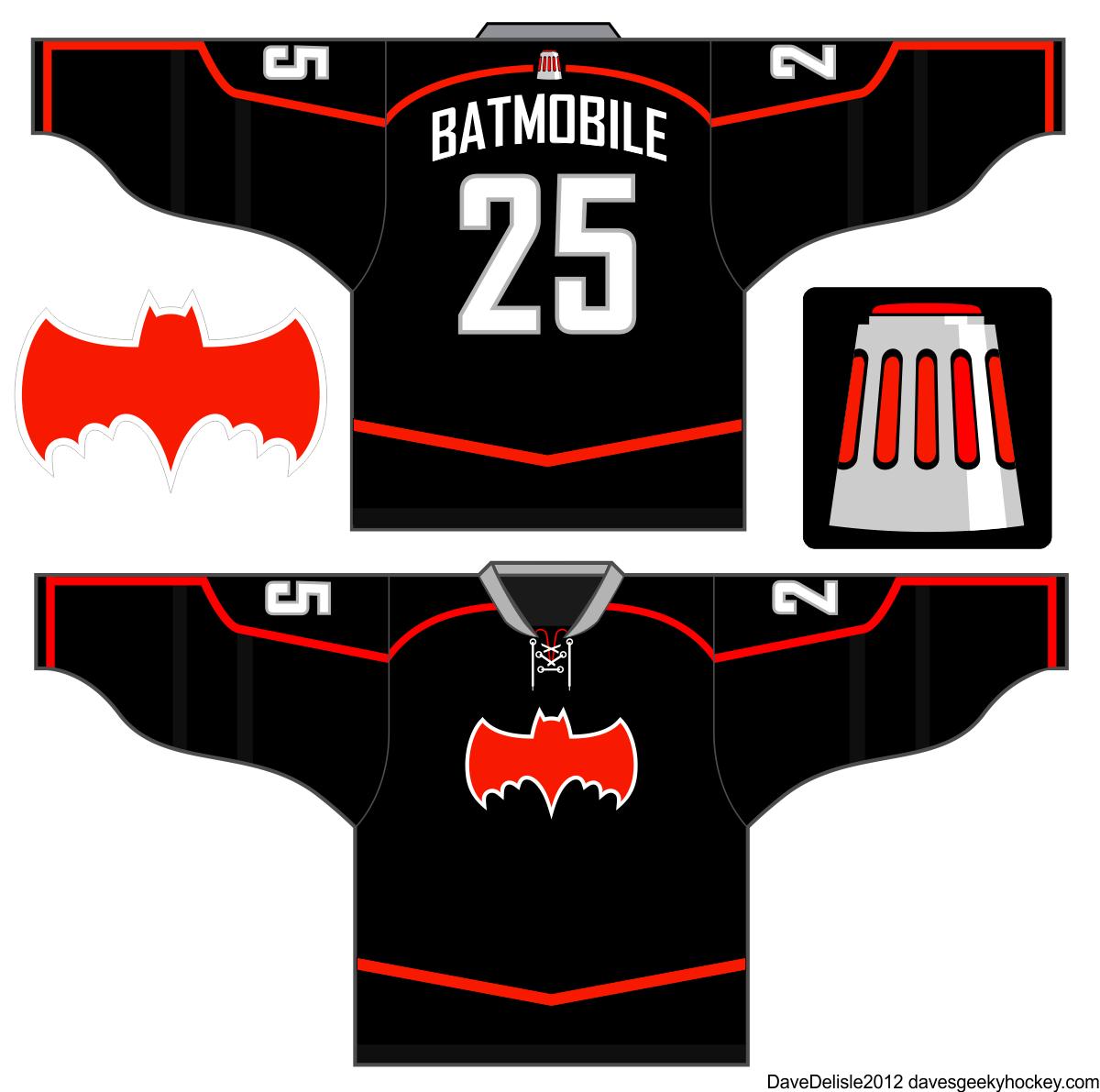 Adam West Batmobile Jersey Design Hockey Jersey Jersey