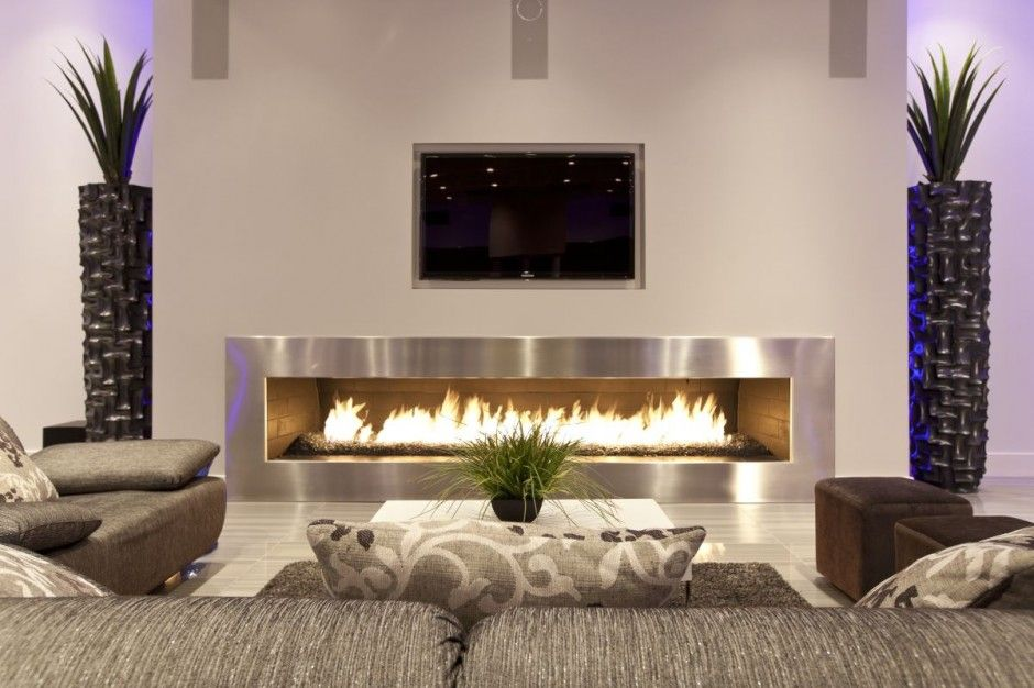Through The Front Door The Modern Fireplace Minimalist Living Room Design Living Room Design Modern Minimalist Living Room