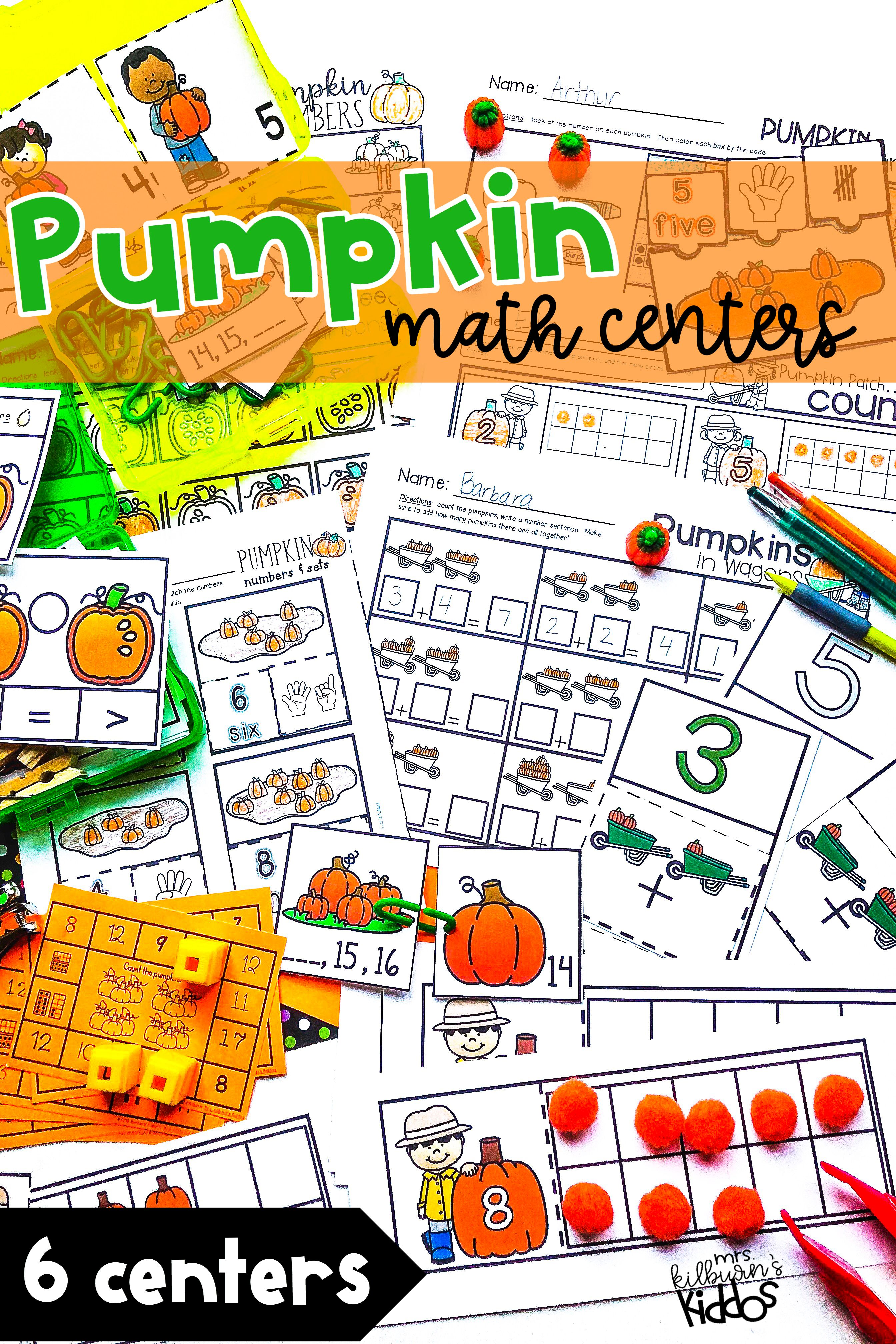 Pumpkin Math Set