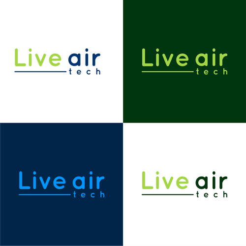 Live Air Amazing Logo For A Very Good Technical Product Blue Or Green Colors White Font Live Air Is Font Design Logo Logo Design Logo Design Contest