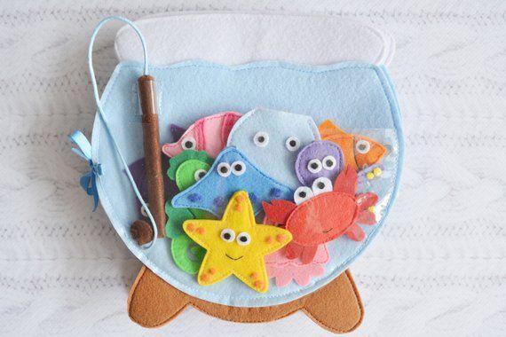 Stoff Stilles Kleinkinderbuch Beschäftigtes Spielzeug Baby Aktivitätsbuch Sensory | Etsy
