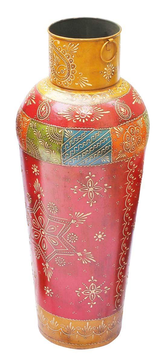 Bulk Wholesale Handmade 24 Flower Vase Pot In Iron Enhanced With