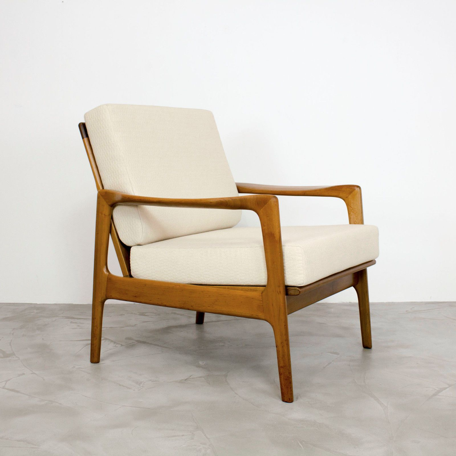 Mid Century Modern Nussbaum Sessel 50er 60er Walnut Easy Chair 60s 1960 Fabric For Sale Eur 320 00 See Photos Money Bac Sessel Stühle Mid Century Modern