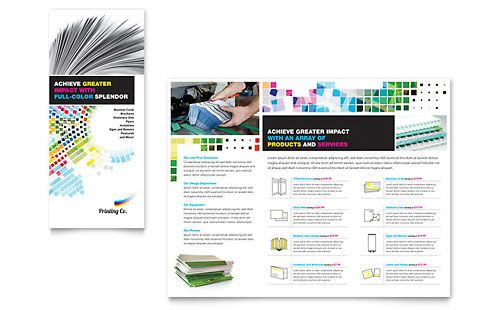 Printing Company Brochure Template By StockLayouts Brochure - Company brochure template