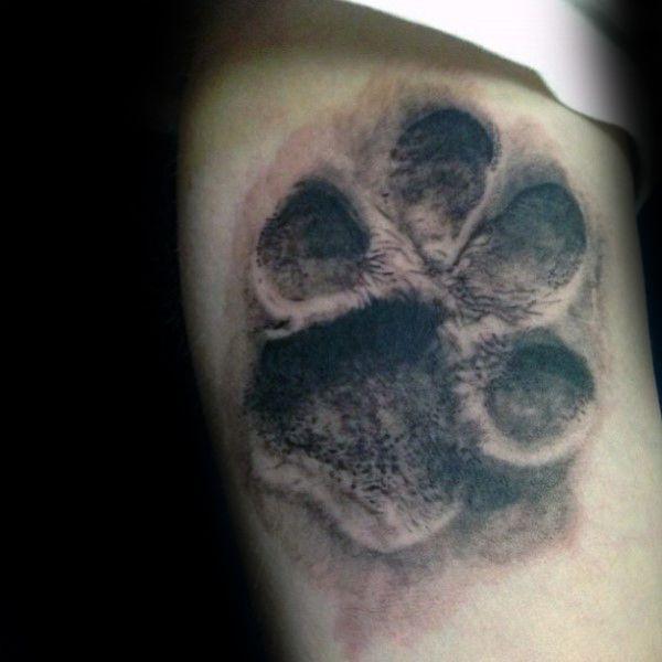 3d Male Dog Paw Shaded Tattoos On Arm Jpg 600 600 Dog Paw Tattoo Dog Tattoos Paw Tattoo