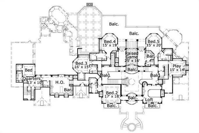 French Home Plan 8 Bedrms 7 5 Baths 11877 Sq Ft 156 2307 House Plans Luxury House Plans French House Plans