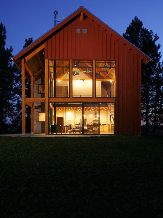 Modern Barn. Yes, Please! | Modern barn house, Barn style ...