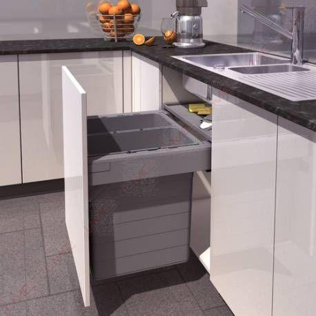 Set poubelles suspendues Xl pour tiroir - Accessoires de cuisines