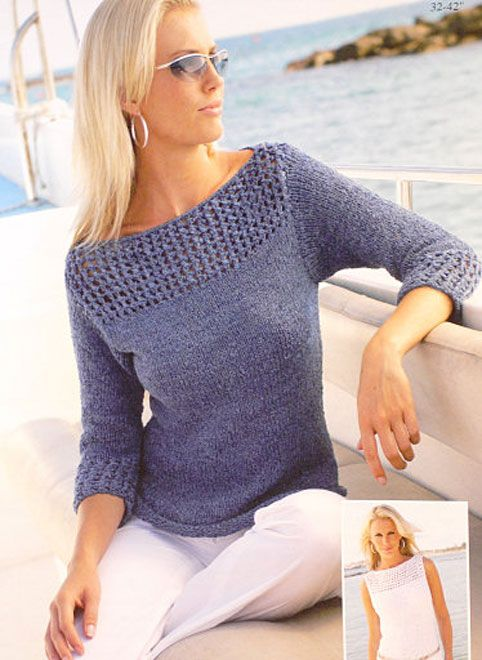 Looking For A Knitting Pattern For A Jumper With A Boat Neck But