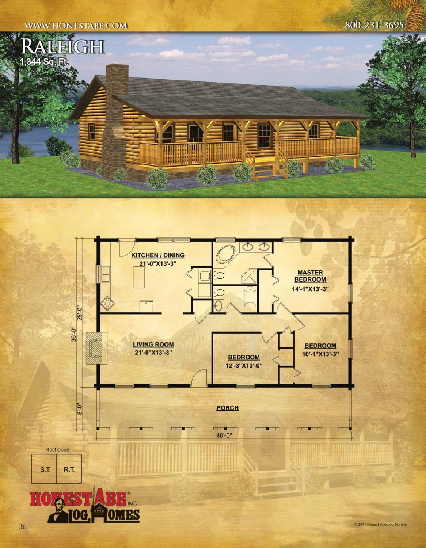 Honest Abe Log Homes Floor Plan Catalog