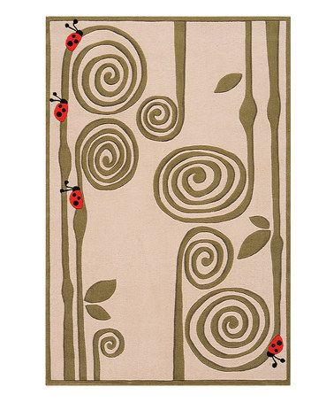This Ivory Spiral Floral Rug is perfect! #zulilyfinds