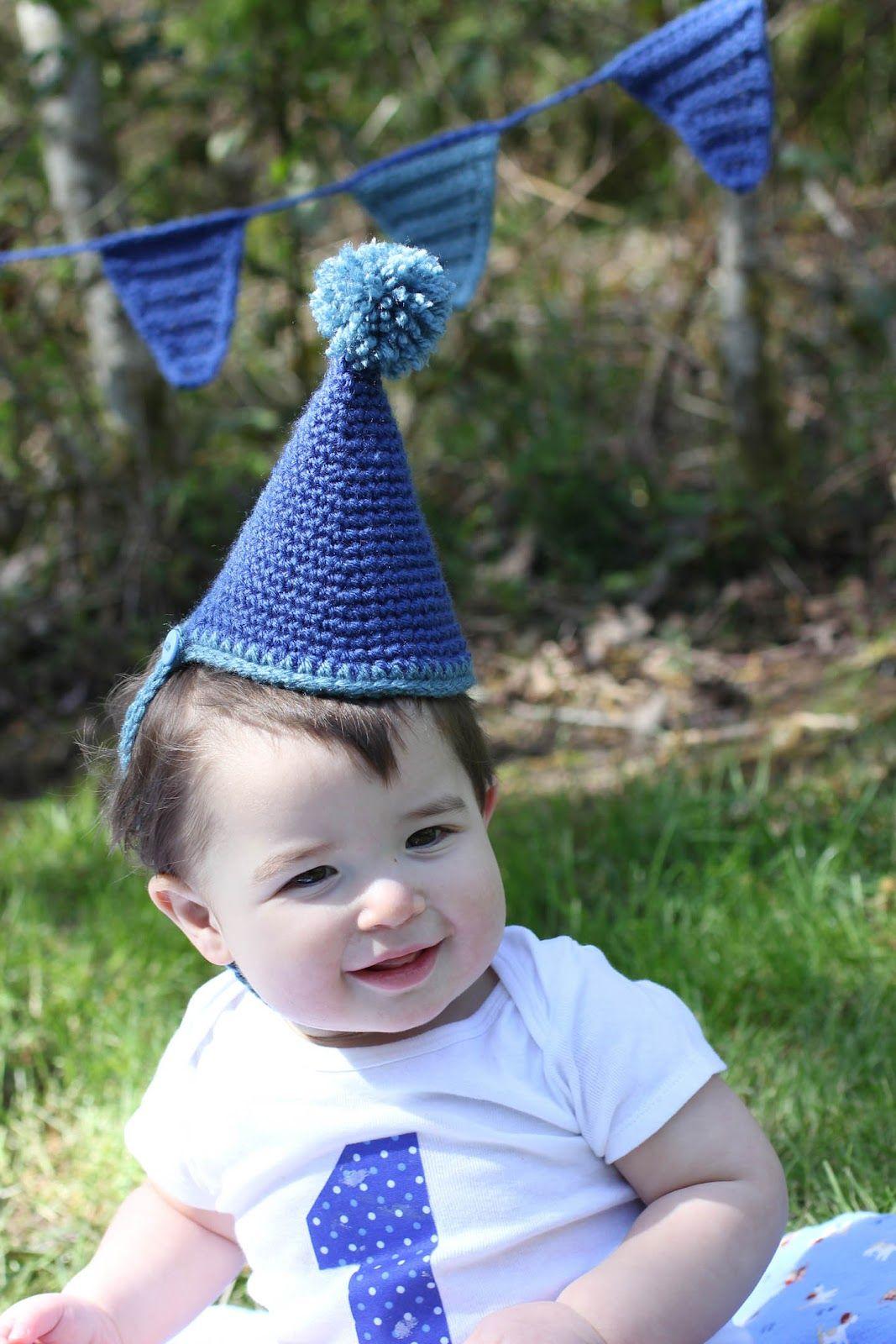 Chapéu de festa feito em crochê. - Tutorial em Inglês.
