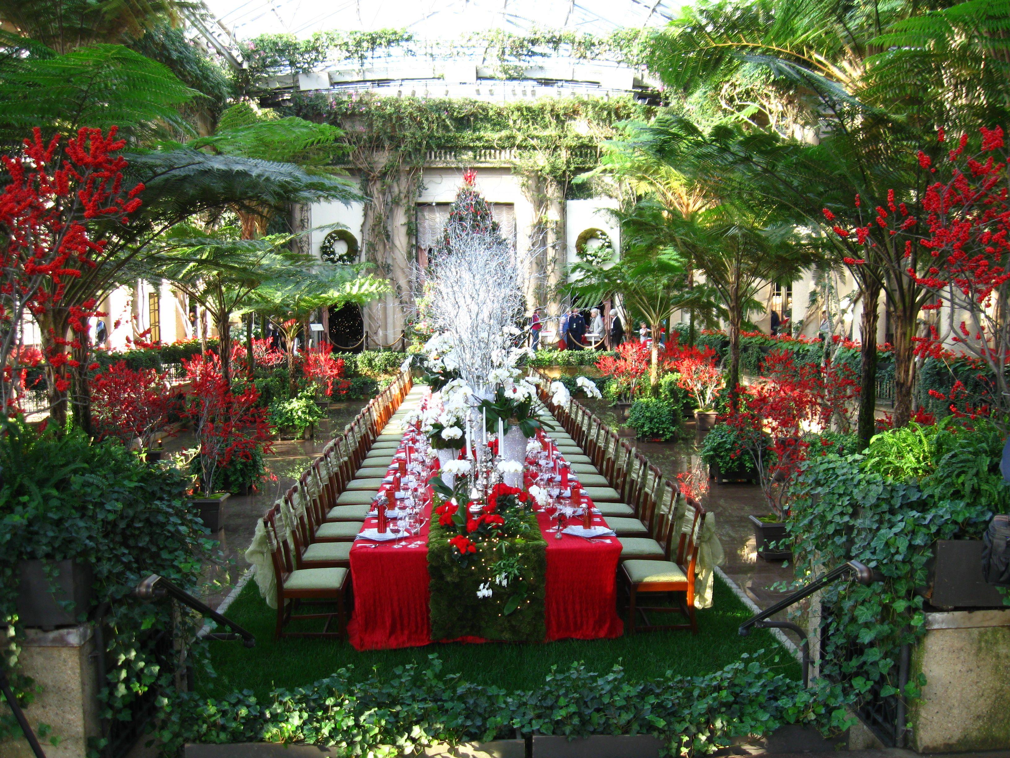Longwood Gardens Wedding Reception