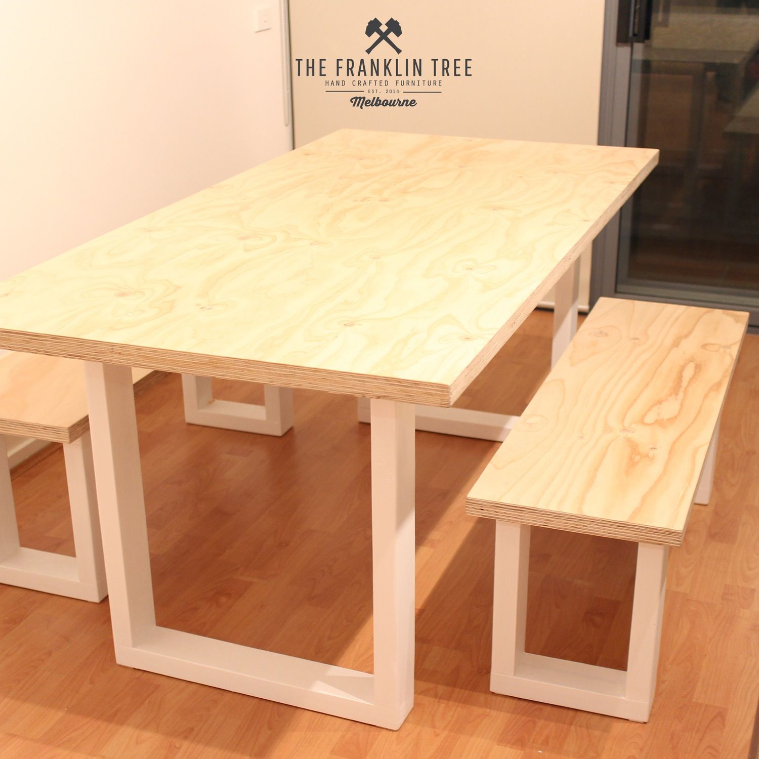 image of williamsburg dining table / plywood | diy projects
