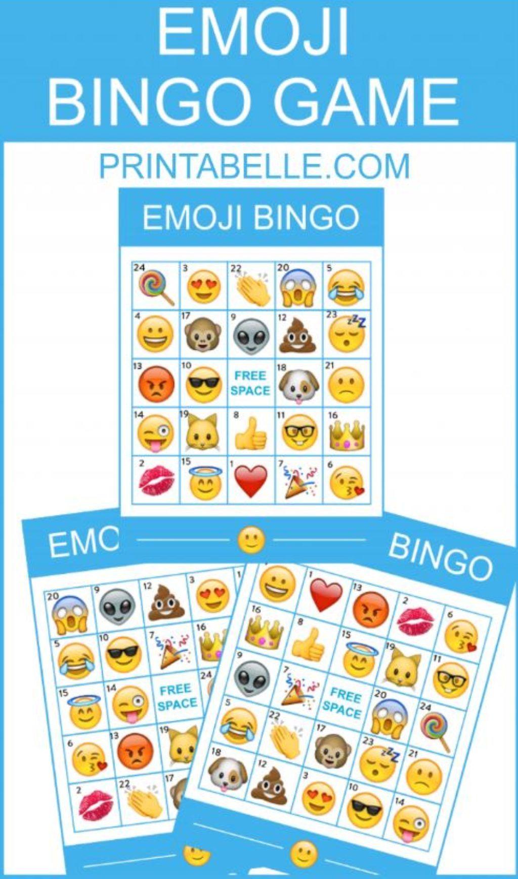 Emoji Bingo Printable Game Apple Emoji Bingo Emoji Bingo
