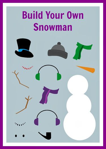 Free Build Your Own Snowman Printable Snowman and Activities - snowman template