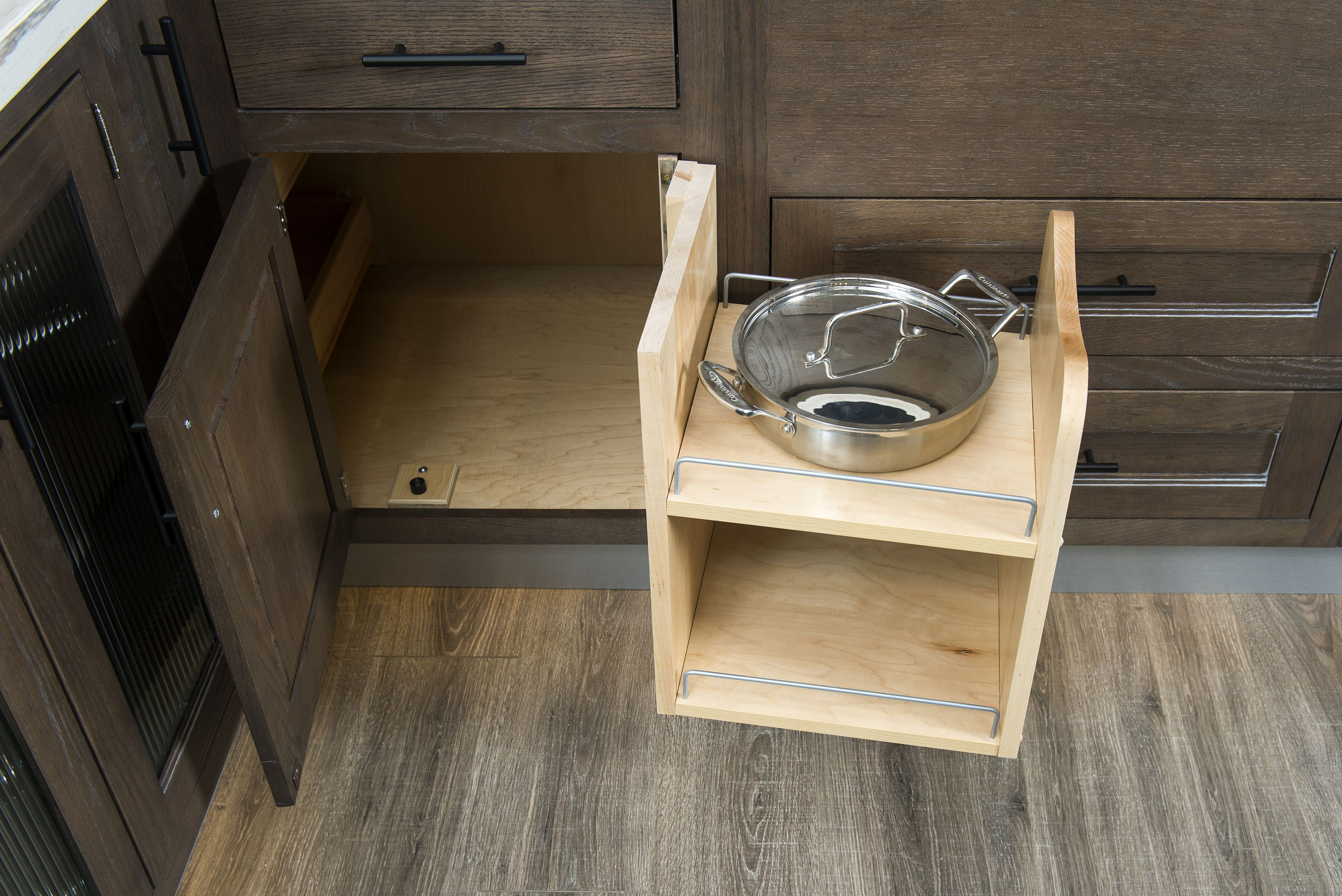 For Your Side Corner Cabinetry It Is Always Hard To Get All Your Pots And Pans Stored Back In The Corner C Pan Organization Kitchen And Bath Wellborn Cabinets