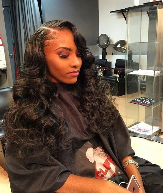 Loose Wavy Curlsrelaxed Human Hair Weaves Extensions Hr