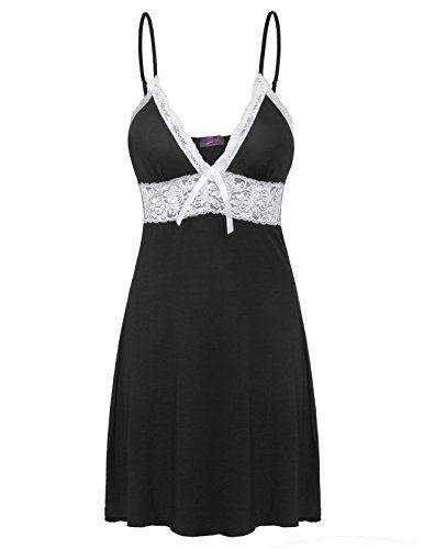 6721e93c91 Beyond Intimates Sleepwear Women Nightgowns Soft Chemises Lace Lounge Dress  ZE0106