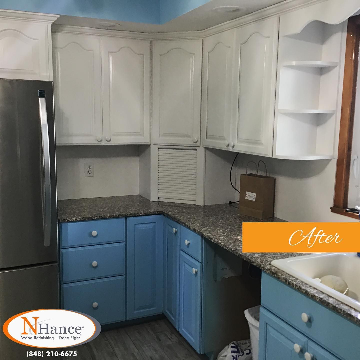 These Golden Oak Cabinets In This Edisonnj Kitchen Were Given The Update They Needed With A Cabinetcolorchange From In 2020 Oak Cabinets Refinishing Cabinets Cabinet
