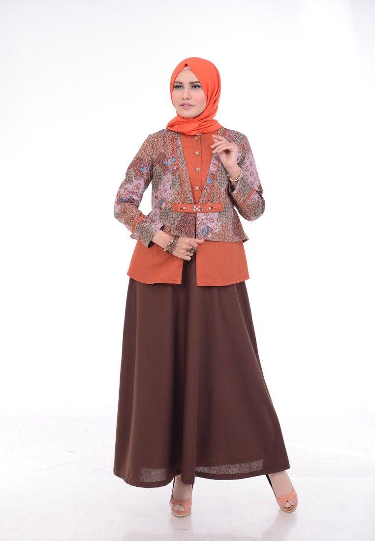 Batik Kerja Wanita Muslimah  Baju atasan wanita, Model pakaian