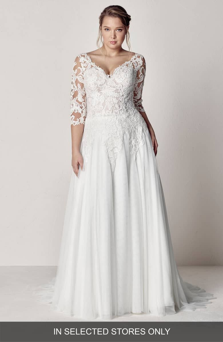 Off White Wedding Dresses Plus Size