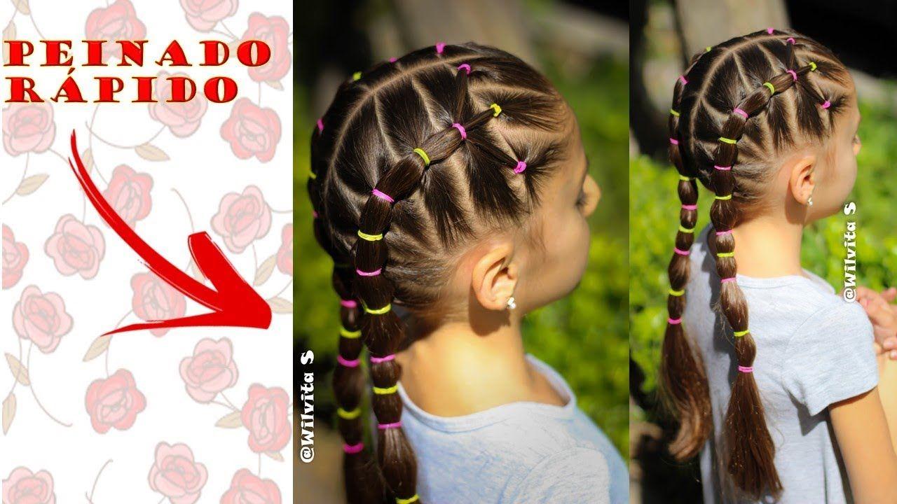 Peinado Fácil Y Rápido De Hacer Para Niñas Para La Escuela Wilvita Peinados Peinados De Niñas Faciles Peinado Fácil
