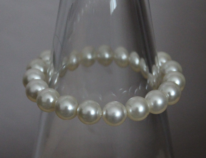 Faux Pearl bracelet by HandmadeShelley on Etsy