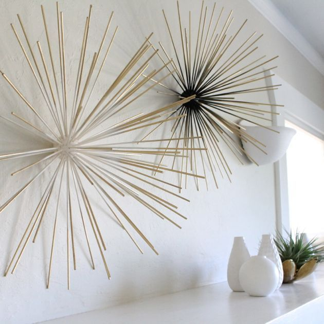 DIY Dwell Studio Boom Art Sculpture - poppy haus  Might try these to use in IM's Living room.