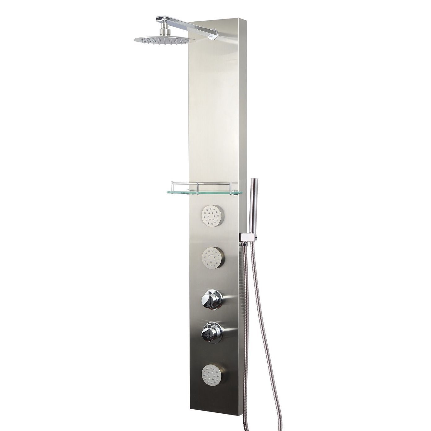 Valore Stainless Steel Full-install Shower Panel | Shower Panels ...
