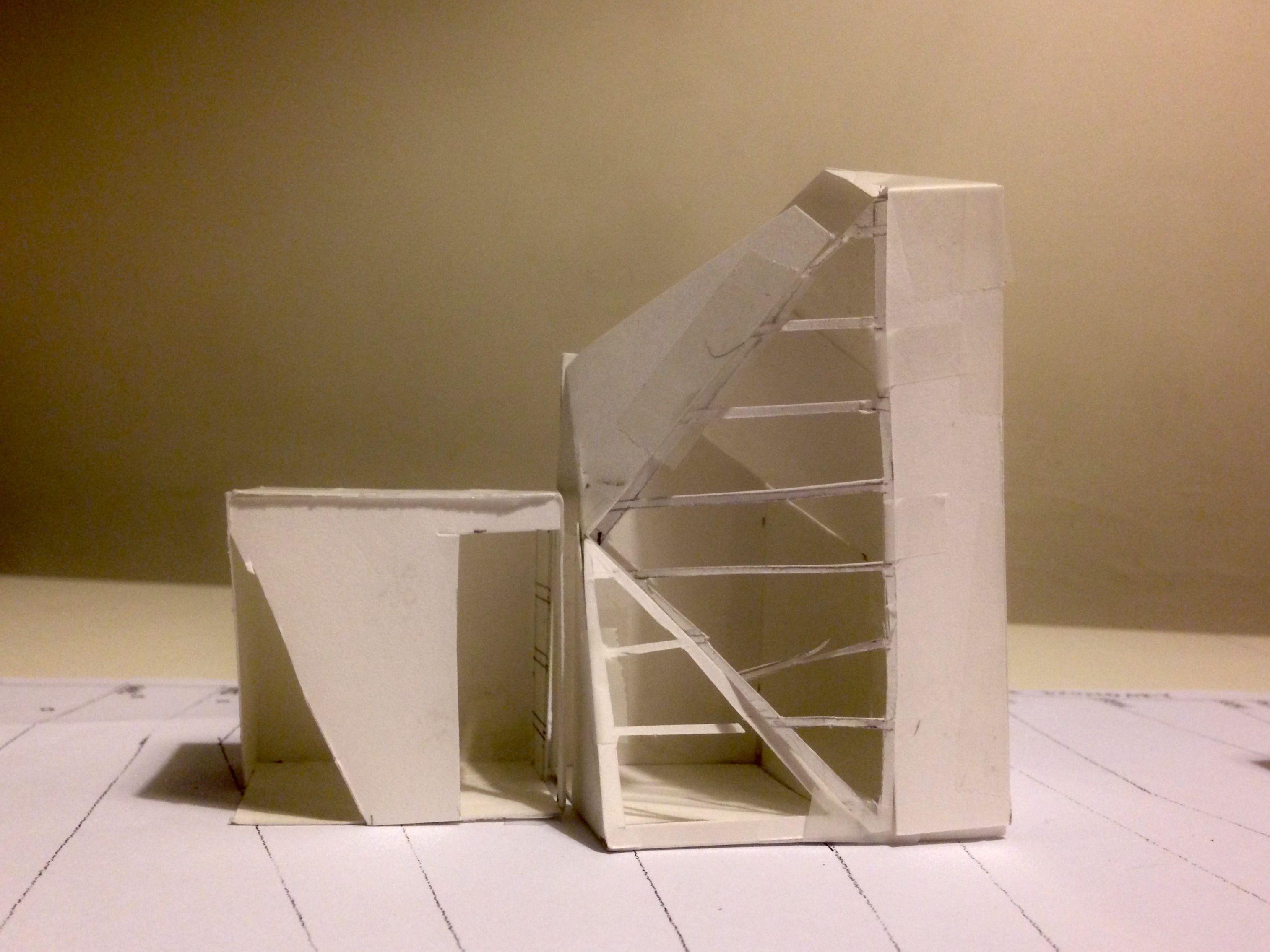 UniSA Interior Architecture Design Studio 1 Assignment 3, Place. Sketch  Model Studio Space