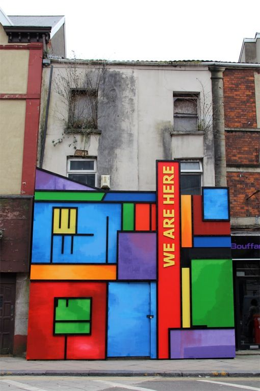 Building art in Swansea contributing to the regeneration of the High Street