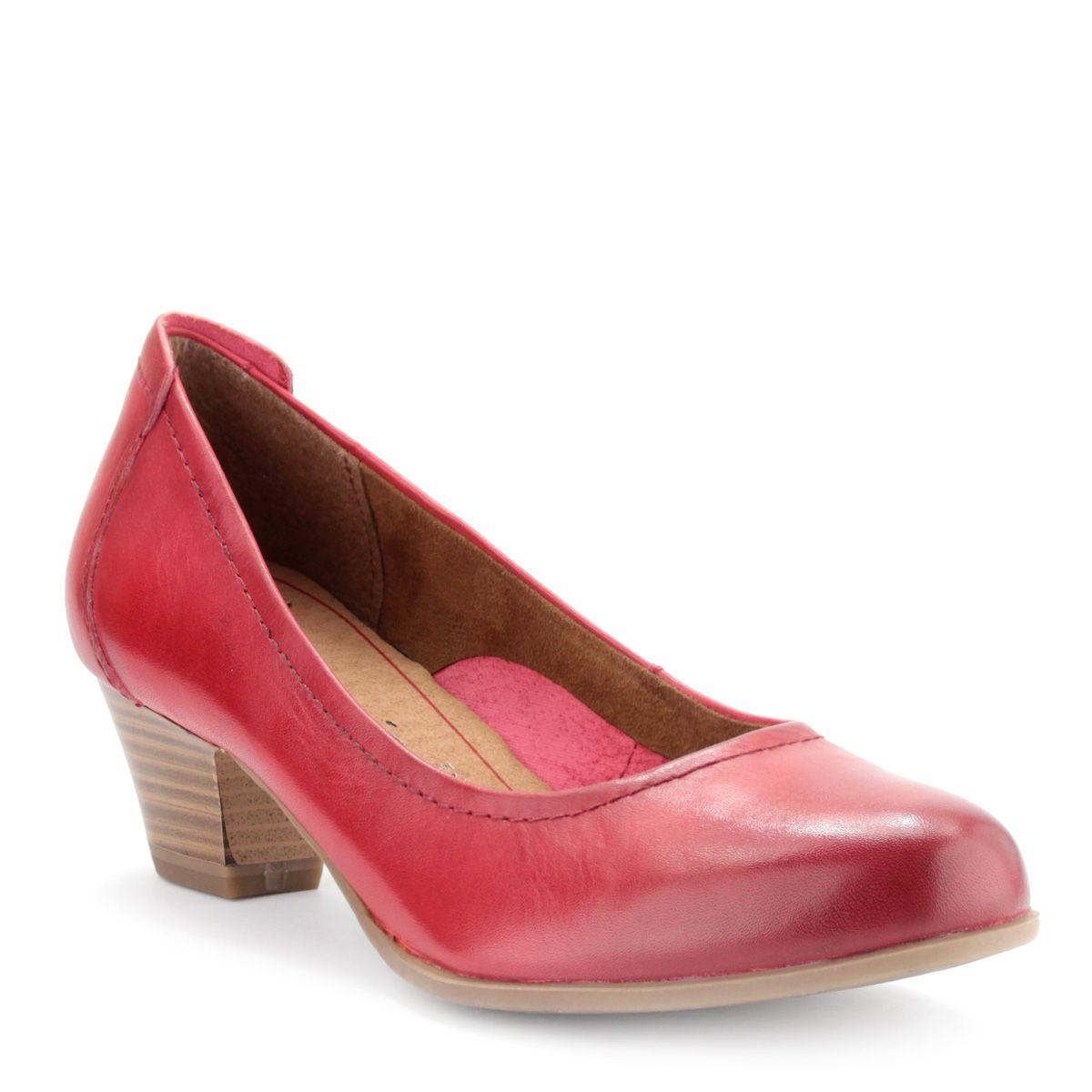 Piros Tamaris cipő ANTiShokk sarokkal  efa5a0bdd0