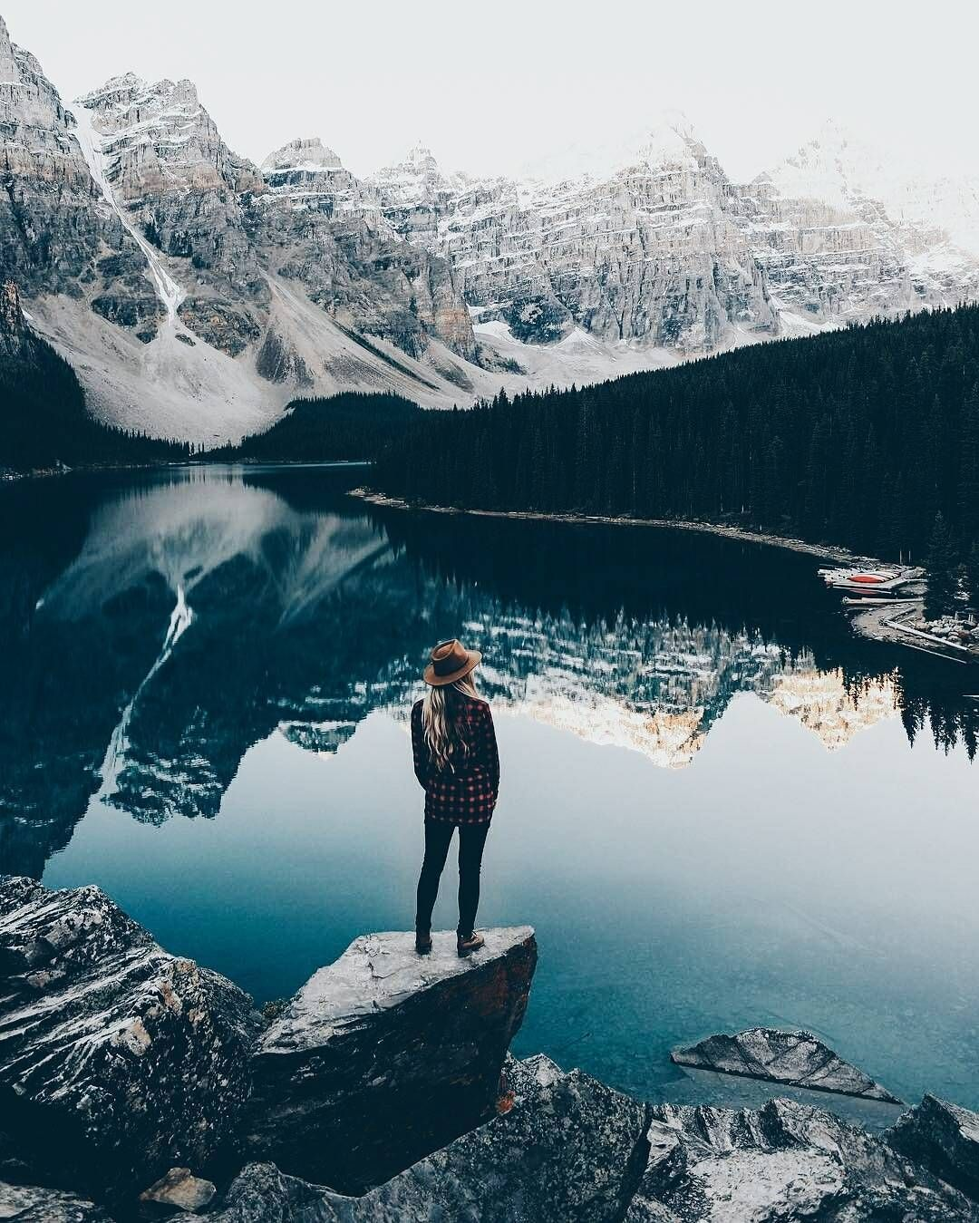 "Man of Many on Instagram: ""@samciurdar founder of @adventurethatislife capturing the beauty of a calm Moraine Lake in Canada"" #granolagirlaesthetic"
