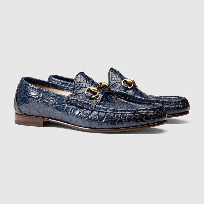 Gucci 1953 horsebit crocodile loafer