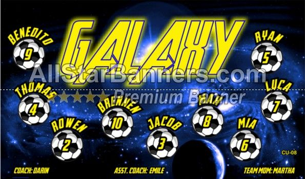 galaxy soccer banner idea from allstarbanners com we do soccer