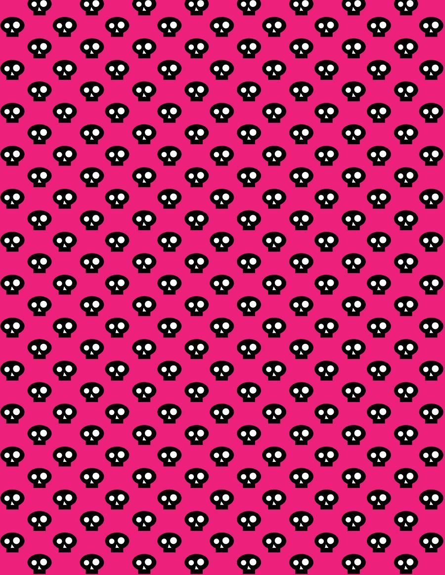 Pink And Black Skulls Wallpaper Monster High Printables