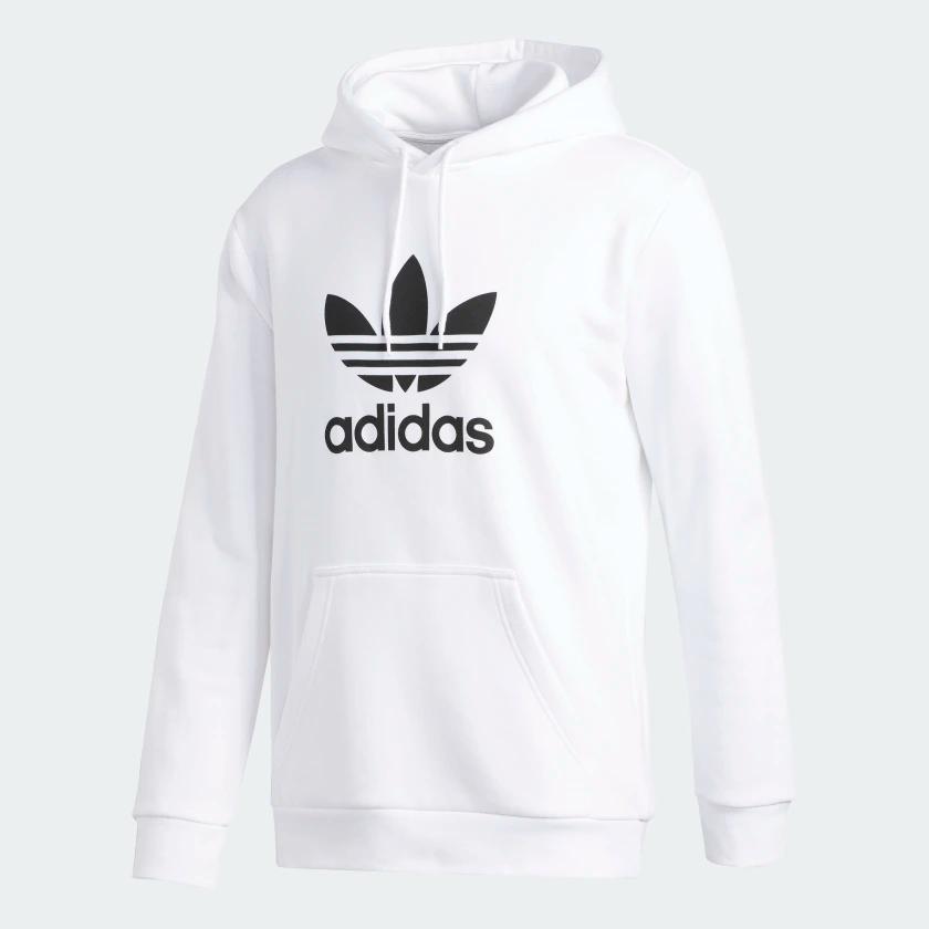 Trefoil Hoodie White Du7780 In 2020 Adidas Sweatshirt Adidas White Hoodie Hoodies