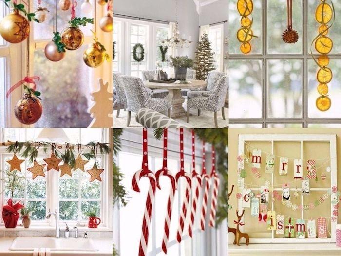 Küchenfenster Deko ~ Weihnachtsbeleuchtung fenster sechs fenster deko ideen hängende