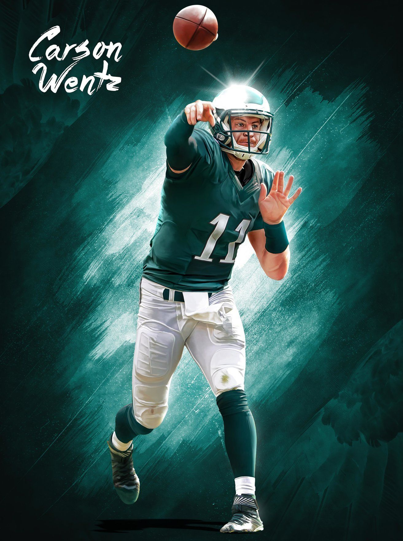 Philadelphia Eagles Carson Wentz Freedom 24x18 Football Poster Philadelphia Eagles Philadelphia Eagles Fans Philadelphia Eagles Football