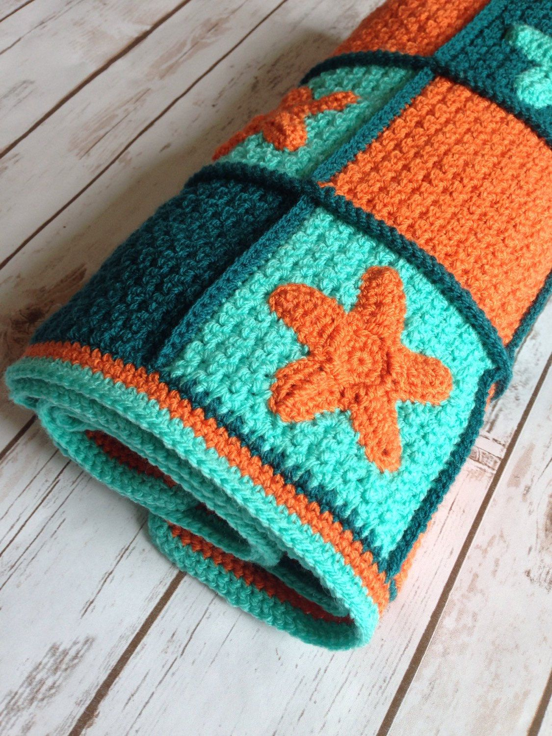 A personal favourite from my Etsy shop https://www.etsy.com/uk/listing/287241489/crochet-baby-blanket-with-stars-baby-boy